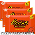 3 Reese's Peanut Butter Cups 42-oz. Bags for $24 + free shipping