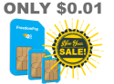 FreedomPop 4G SIM Kit w/ 4GB Data for 1 cent + free shipping