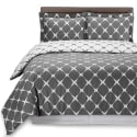 Moodowell Queen Microfiber Duvet Cover Set for $18 + free shipping w/ Prime