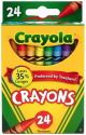 Crayola Classic Color Crayons 24-Pack for 50 cents + pickup at Office Depot