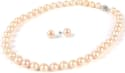 11mm Freshwater Pearl Necklace & Earrings Set for $40 + free shipping