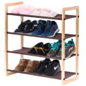 MaidMAX Stackable Wooden Shoe Rack for $12 + free shipping