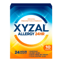 Xyzal Allergy 24-Hour 10-Pack Sample for free + $3 s&h