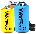 Wolfyok 20L & 10L Roll-Top Dry Bag 2-Pack for $18 + free shipping w/ Prime