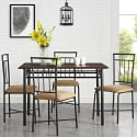 Mainstays 5-Piece Wood and Metal Dining Set for $69 + free shipping