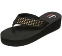 Alpine Swiss Women's Rhinestone Wedge Sandals for $7 + free shipping