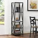 Walker Edison X-Frame Metal & Wood Bookshelf for $91 + free shipping