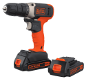 Black + Decker 20V Drill w/ 2 Batteries for $40 + free shipping