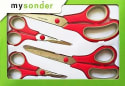 Mysonder Stainless Steel Scissors 4-Pack for $10 + free shipping