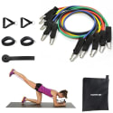 Morecoo 10-Piece Resistance Band Set for $14 + free shipping w/ Prime