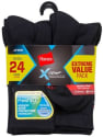 Hanes Men's X-Temp Active Cool Socks 24-Pack for $15 + pickup at Walmart