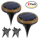 Kungix 8-LED Solar Light 2-Pack for $19 + free shipping w/ Prime