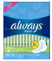 Always Maxi Size 2 Long Pads with Wings 60ct for $6 w/ $25 + free shipping