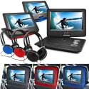 "Ematic 10"" Portable DVD Player w/ Headphones for $40 + free shipping"