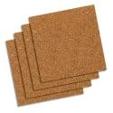 """Quartet 12"""" Natural Cork Tiles 4-Pack for $4 + pickup at Walmart"""