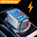 Capshi 36W Dual USB Car Charger for $8 + free shipping w/ Prime