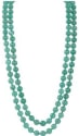 "51"" Chinese Aventurine Jade Rope Necklace for $27 + free shipping"