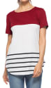 Ceasikery Women's Color Block T-Shirt for $9 + free shipping w/Prime