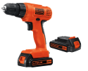 """Black + Decker 20V 3/8"""" Drill w/ 2 Batteries for $40 + free shipping"""
