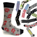 Funky Prints Unisex Socks 10-Pack for $15 + free shipping