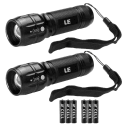 2 LE Cree Adjustable Focus LED Flashlights for $10 + free shipping w/ Prime