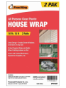 Frost King 10x15-Foot House Wrap 2-Pack for $5 + pickup at Walmart