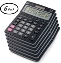 Avalon 12-Digit Desktop Calculator 6-Pack for $15 + free shipping