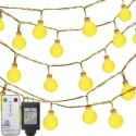 Oak Leaf 100-LED 41-Foot Globe String Lights for $14 + free shipping w/ Prime