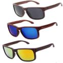 Unisex Polarized Wayfarer Wood Sunglasses for $10 + free shipping