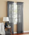 Mainstays Marjorie Voile Curtain Panel Pair for $5 + pickup at Walmart