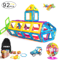 Imden 92-Piece Magnetic Building Blocks Set for $24 + free shipping w/ Prime