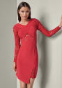 Venus Women's Lace Long-Sleeve Dress for $16 + $8 s&h