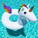 Rainbow Unicorn Inflatable Pool Float for $13 + free shipping