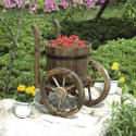 Stonegate Designs Wooden Barrel Planter for $30 + Northern Tool pickup