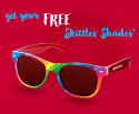 Skittles Sunglasses: free w/ $5 candy purchase