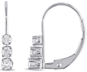 Amour 1/4-tcw. Diamond Leverback Earrings for $150 + free shipping