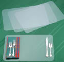Miles Kimball 4-Piece Clear Placemat Set for $10 + free shipping