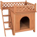 Wood Dog House Shelter w/ Balcony for $50 + free shipping