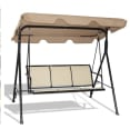 Costway Patio 3-Person Swing Bench Chair for $79 + free shipping