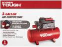 Hyper Tough 3-Gallon Air Compressor for $40 + free shipping