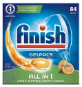 Finish Gelpacs Dishwasher Tablets 84-Pack for $9 + free shipping