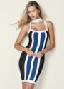 Venus Women's Striped Bodycon Mini Dress for $32 + $8 s&h