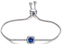 Caperci Adjustable Sapphire Bolo Bracelet for $14 + free shipping