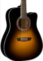 Washburn Cutaway Acoustic-Electric Guitar for $130 + free shipping
