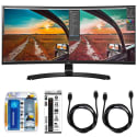 "LG 34"" WQHD Curved IPS LED Display Bundle for $554 + free shipping"