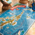 Margaritaville St. Somewhere Map Outdoor Rug for $360 + free shipping