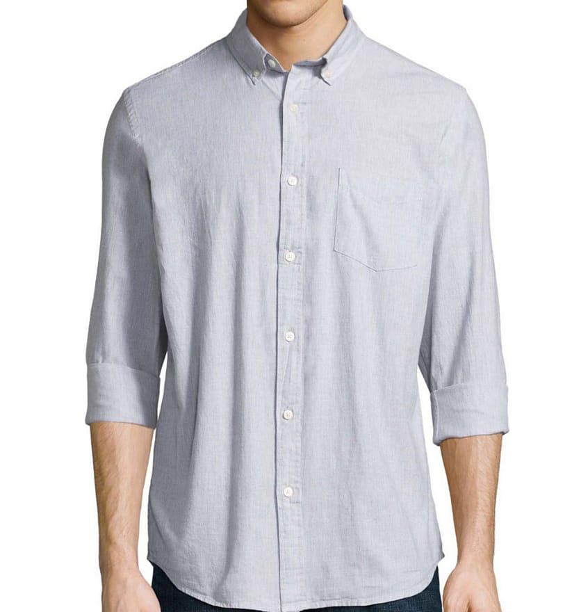 Arizona Men's Long Sleeve Button-Front Shirt $15