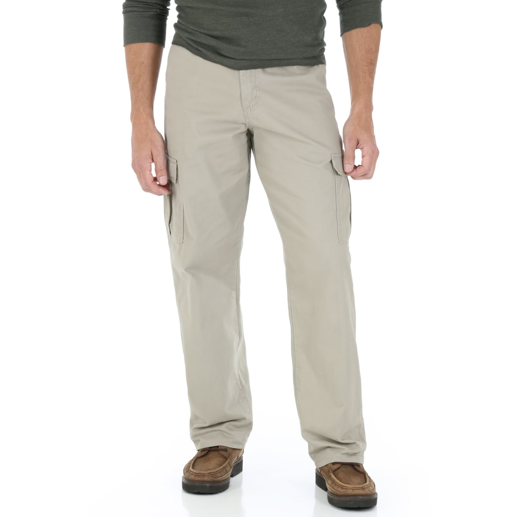 Wrangler Men's Loose Fit Twill Cargo Pants for $15