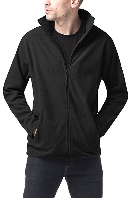 Lapasa Men's Full Zip Polar Fleece Jacket for $18