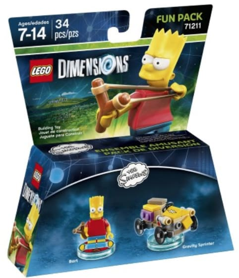 LEGO Dimensions Fun Packs for $4